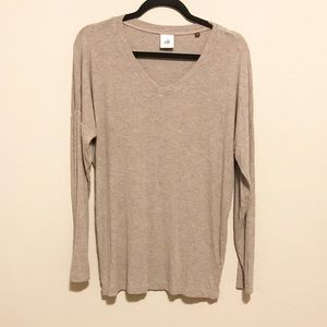 CAbi Oatmeal Soft Long Sleeve Top Size Small